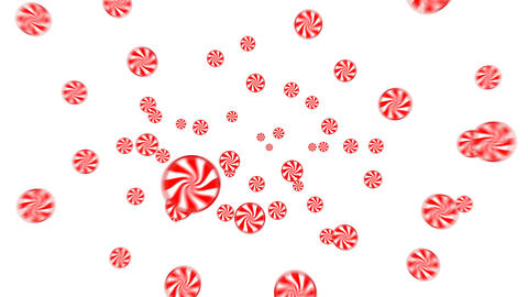 Candies flying in Animation