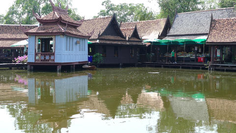 The floating market Footage