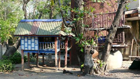 Old Thai spirit houses Footage