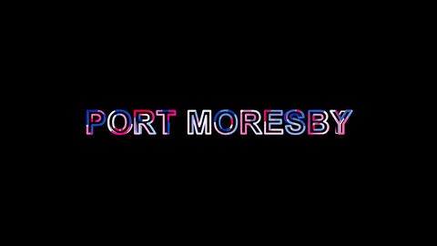 Letters are collected in capital name PORT MORESBY, then scattered into strips. Animation