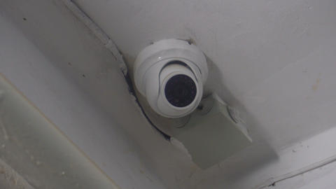 surveillance camera in the entrance of a house Footage