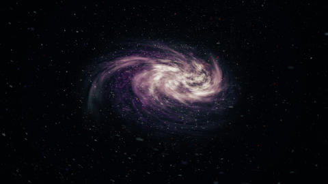 Rotating spiral galaxy, deep space Animation
