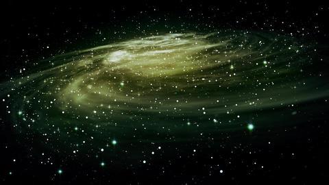 Rotating spiral galaxy, deep space 애니메이션