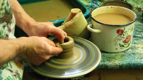 Pottery making process 영상물