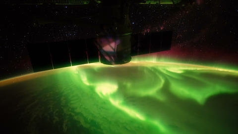 Australian Southern Lights seen from space - ISS Footage