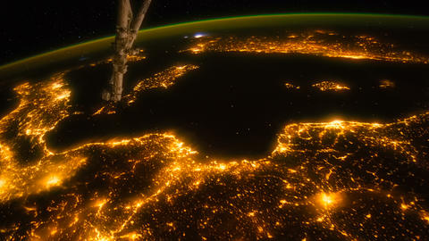 Southern Europe seen from space - ISS GIF