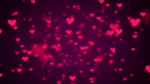 Valentines Day Hearts Flying. Background Looped video Animation