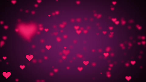 Valentines Day Hearts Flying. Background Looped video 2 GIF