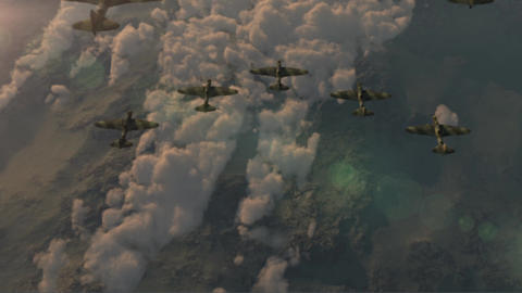 Fighter jets of the second world war IL-2 flying wedge GIF