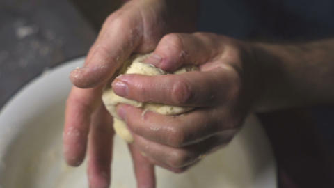 Farmer is making pizza dough. Video Footage