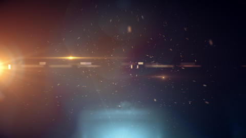 background with light particles and optical effects Animation