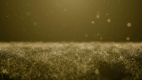 Particles gold bokeh glitter awards dust abstract background loop Animación