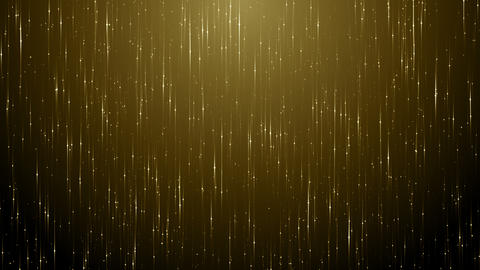 Particles gold bokeh glitter awards dust abstract background loop CG動画素材
