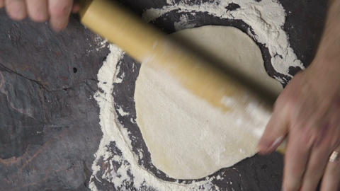 Prepare the dough for home pizza. Video Footage