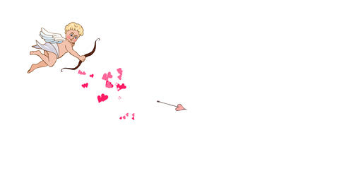 Animated character Cupid Shoots an Arrow of Love Animation