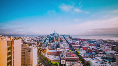 Time Lapse - Aerial View of Downtown San Francisco - 4K Footage