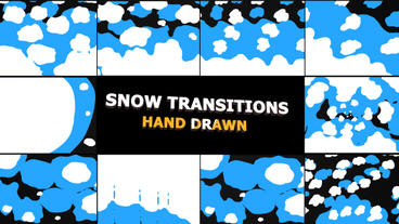 Snow Transitions After Effects Template
