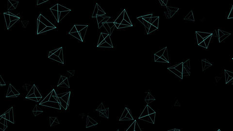 Triangular background CG Radial diffusion Animation