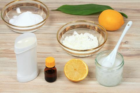 Antibacterial and natural homemade deodorant フォト