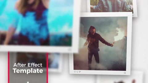 Square Photo - Slideshow After Effects Template