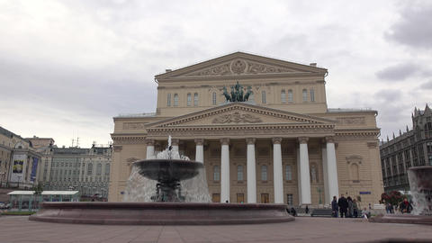 RUSSIA, MOSCOW - Famous Bolshoi theater facade and the Footage