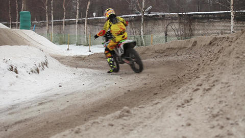 Winter motocross Footage