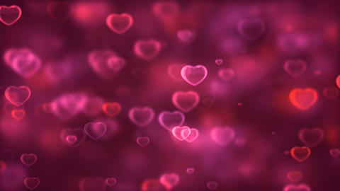 Beautiful Romantic Hearts Background Archivo