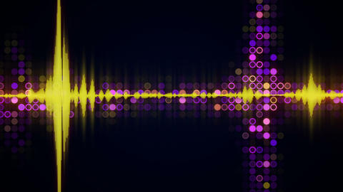 Colorful audio waveform equalizer techno loopable background Animation