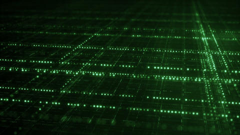 Endless green grid information technology concept seamless loop Animation