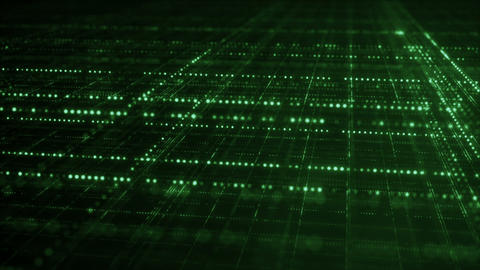 Endless green grid information technology concept… Stock Video Footage