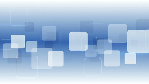 White squares on blue seamless loop abstract background Animation