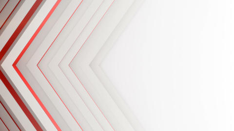White and red lines 3D render seamless loop background Animation