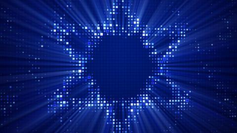 Star of David shape on monitor seamless loop animation Animation