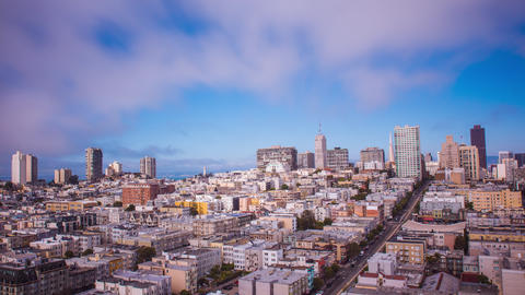 Time Lapse - Panoramic View of Downtown San Francisco - 4K Footage