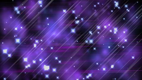 Ultra violet parallel lines, stars and blurred lights Animation
