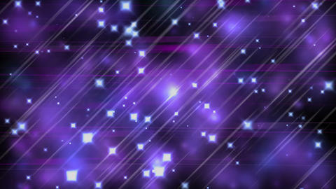 Ultra violet parallel lines, stars and blurred lights Stock Video Footage