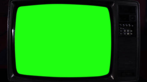 Vintage Green Screen Tv Footage