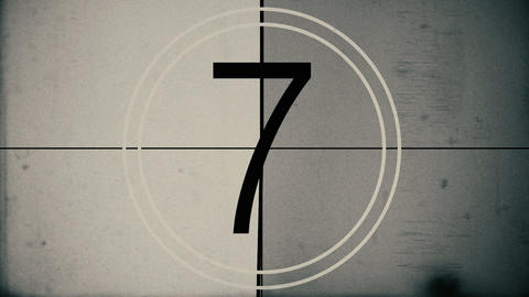 Vintage Film Countdown Animation