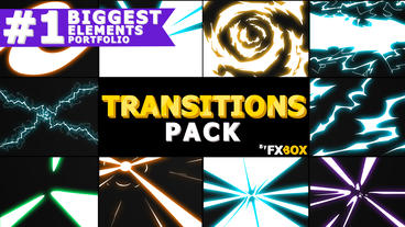 Handy Electric Transitions After Effects Template