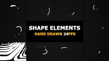 Shape Elements And Transitions After Effects Template