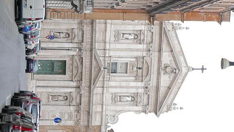 Vertical video. Chiesa di Santa Susanna alle Terme di Diocleziano. Rome, Italy Footage
