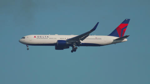 Boeing 767 Delta Airlines approaching Live Action