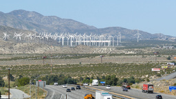 Windmill And The Desert stock footage