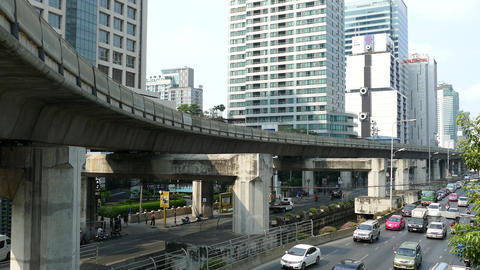 Time lapse from traffic at Sathon Tai Road and Sathon Nuea Road Footage