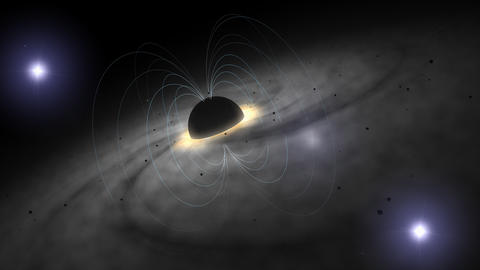 Blackhole magnetic field, deep space Animation