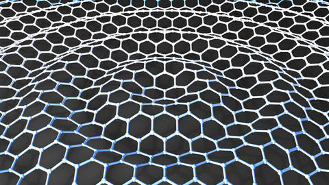 Graphene honeycomb, material science Animation