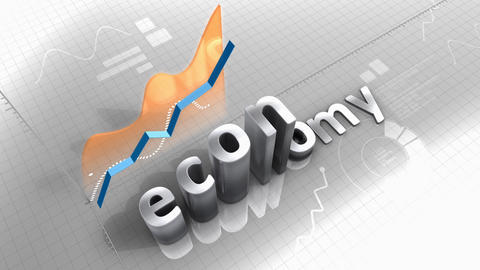 Growing chart Economy, statistic, data, performance Animation