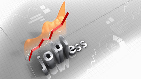 Jobless growing chart, statistic, data and performance Animation