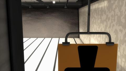 Indoor range target facility, sport activity Stock Video Footage