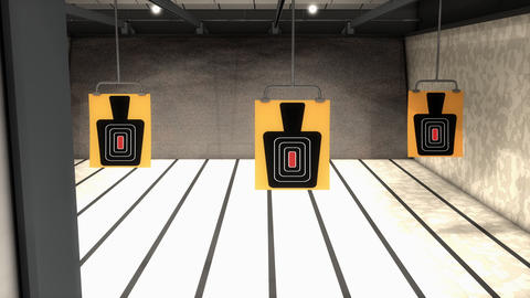 Indoor range target facility, sport activity Animation